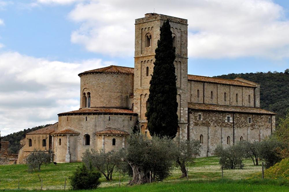 Montalcino and Sant'Antimo